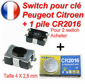 switch bouton de cl pliante t l commande plip peugeot citroen 207 c4 307 407 c3 ebay. Black Bedroom Furniture Sets. Home Design Ideas