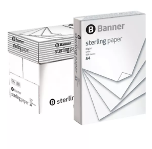 Banner Premium Sterling White A4 Copier Paper 90gsm Pack of 2500 / 5 Reams +24h