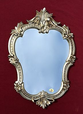 Specchio Muro Oggetto D/'Antiquariato Argento Ovale Bagno Barocco 51X37 Mirror