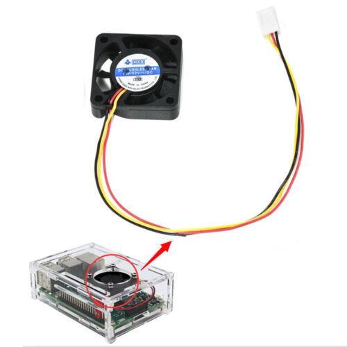 Cooling Cooler Fan for Raspberry Pi Model B+ Raspberry Pi 2//3 U9 12V 0.2A New