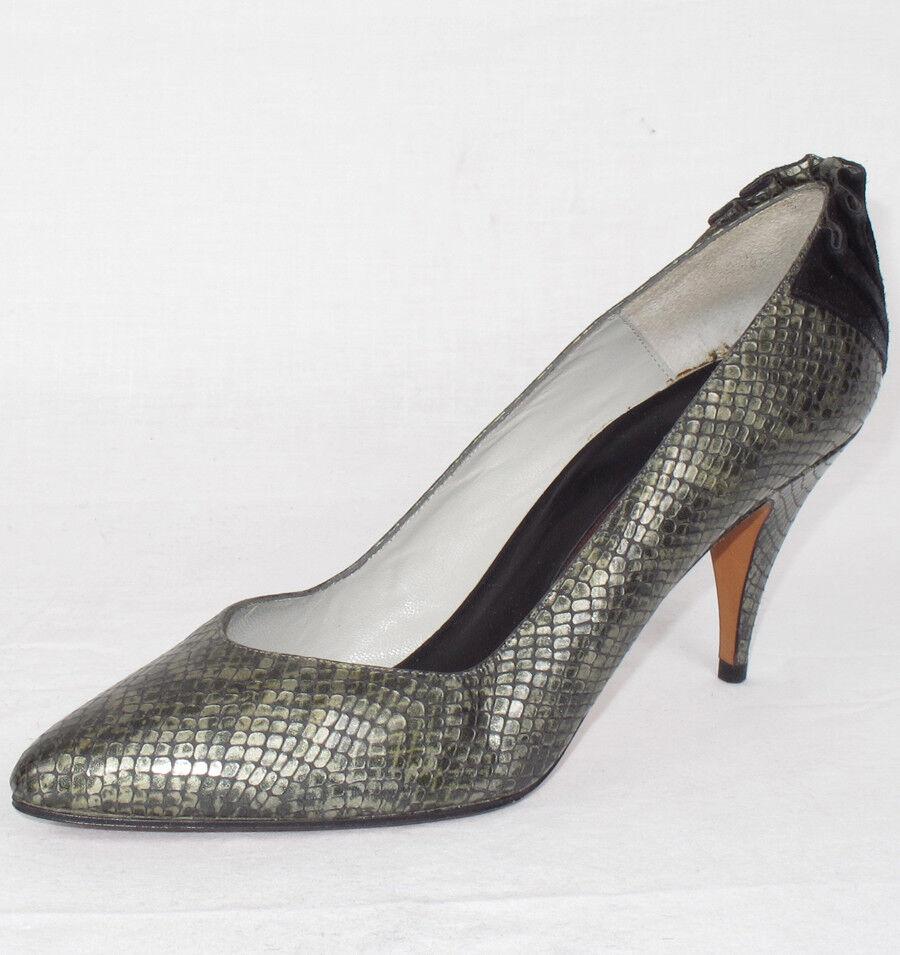VTG Martinez Valero Snake Skin/Print Donna Shoes Sz. 7 M