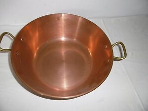 alte Kupferschüssel-Patisserieschüssel-Kupfer-Schüssel 36cm