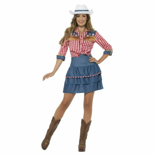 Donna Anni 80 Wild West Rodeo Bambola Cowboy Girl Texano Costume Retrò