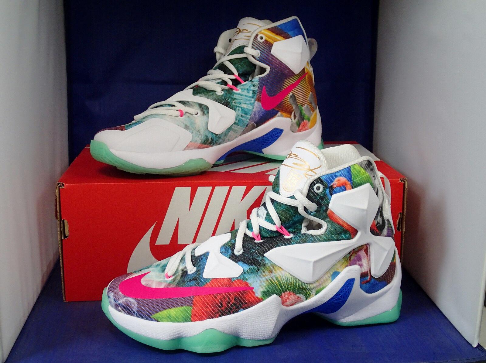 low priced 4c9cc dc044 ... Nike Lebron XIII 13 25K 25K 25K Point Club QS iD Flamingo Floral SZ 7  ...