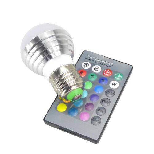 2er rgb LED Ampoule 3w Changement de Couleur Lampe Ampoule Lumière avec télécommande e14 e27