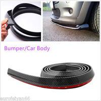 Autos 2.5 Meters Black Carbon Fiber Body Bumper Lip Protector Chin Sticker Skirt