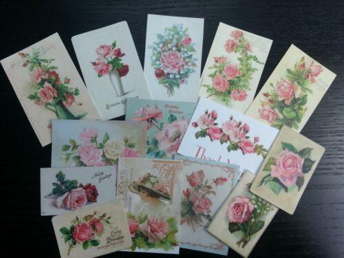Floral Pink Flower Die Cuts Scrapbooking BB21:Vintage images of Pink Roses