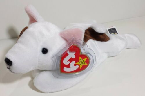 """MWMT CHECK OUT ALL MY BEANIES! TY Beanie Babies /""""BUTCH/"""" the Bull Terrier DOG"""