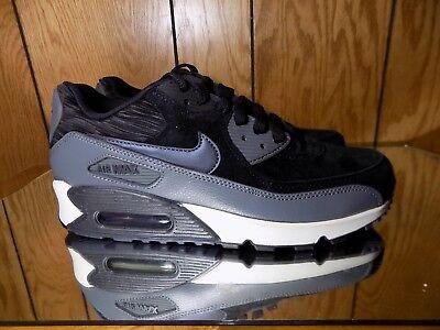 Nike Air Max 90 LTHR Wmn Shoe Sz 8 768887 001 Black Metallic Hematite | eBay