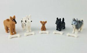NEW LEGO Animal Pet 4 Dogs lot Terrier Dalmatian Chihuahua Shepherd dog lot RARE