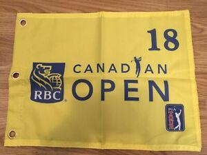 PGA-TOUR-RBC-CANADIAN-OPEN-LOGO-PIN-FLAG-W-GROMMETS-Screen-Print-Free-Shipping
