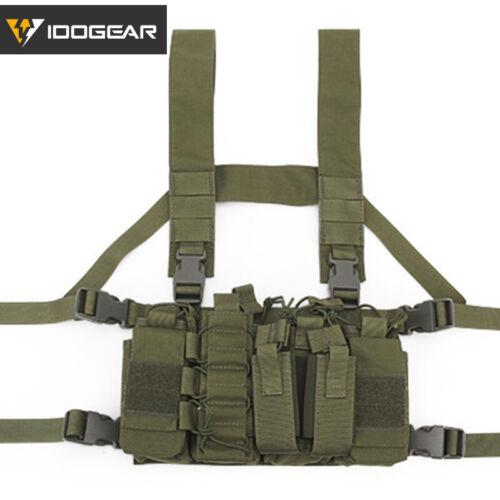 IDOGEAR Tactical Vest Chest Rig D3CR Airsoft Vest w// Magazine Pouch Paintball