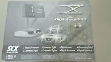 Scx digital system chronometer instruction manual with stickers