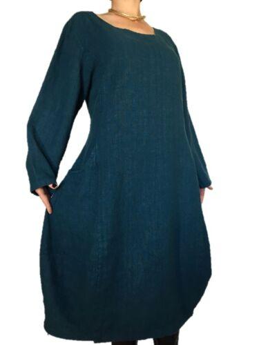 Winter Solid Tunica Linen Size Balon Xl Linen Turquoise L Plus Wide Xxl Dress rRFByrf