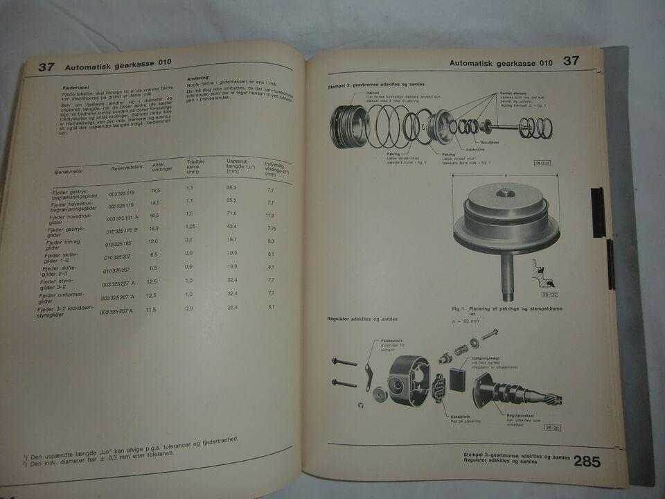 værkstedshåndbog, Audi 80 , Passat