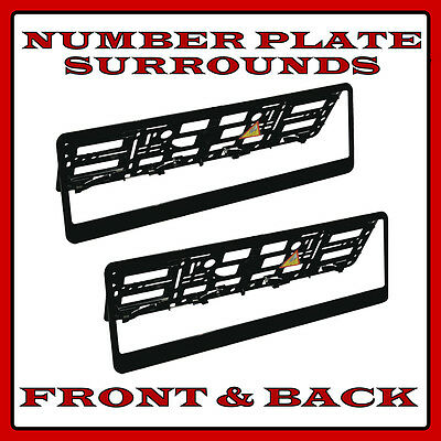 2x Number Plate Surrounds Holder Chrome for Nissan Qashqai