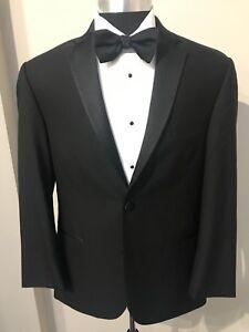 Joseph-Abboud-Black-Tuxedo-Coat-Trim-Fit-Super-130-039-s-Wool-with-Matching-Pants