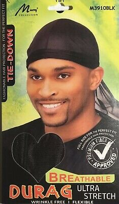 Collection Murry Tie Down DURAG Ultra Stretch Réglable//respirant # 3910 BLK