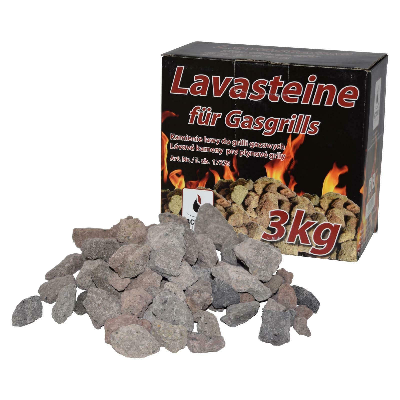 Lavasteine ACTIVA Lavasteine 3 kg für Lavastein Gasgrills Lava Grillsteine