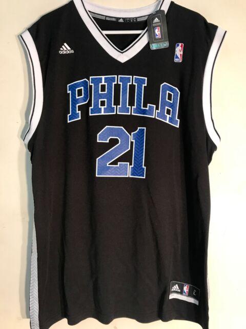 093b9523076 adidas NBA Jersey Philadelphia 76ers Joel Embiid Black Alt Sz S for ...