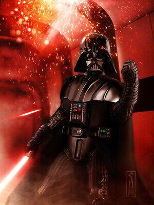 Star Wars Darth Vader Original Art Print signed by artist Scott Harben