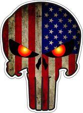 American Sniper Flag Punisher Skull Military Vinyl Sticker Decal 4 inch FIRE