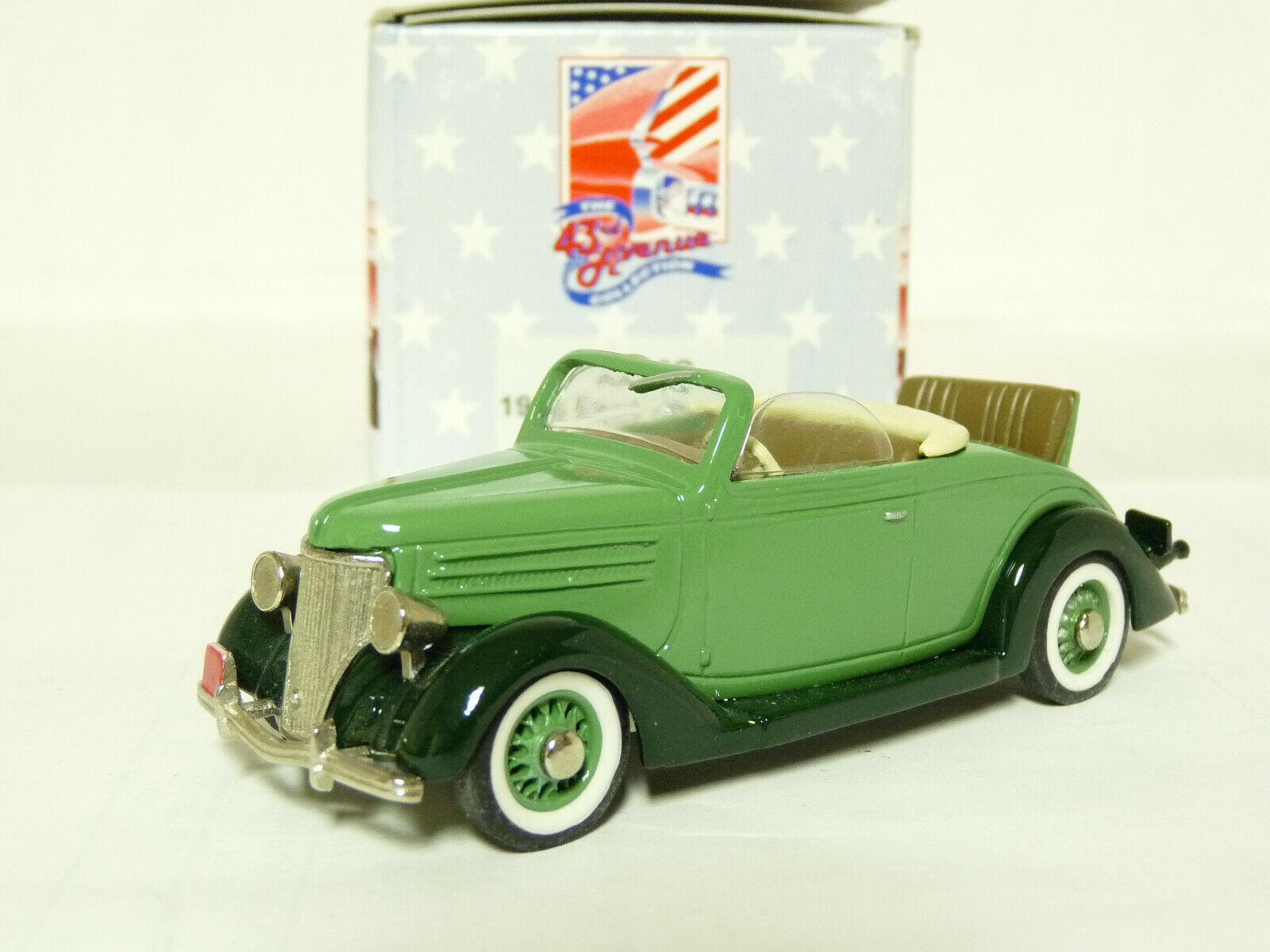 43rd Avenue Milestone AA12G 1 43 '36 Ford Congreenible Handmade White Metal Model