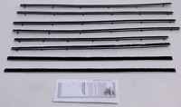 1955-56 Ford Country Squire 4dr Wagon Repops Window Felt Weatherstrip Kit 8 Pcs