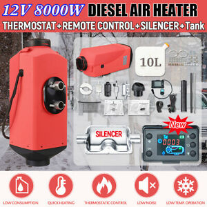 16PCS-Set-12V-8KW-Diesel-Air-Heater-Remote-Control-Low-Noise-For-Truck-Car-Boat