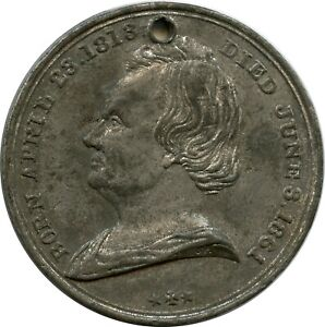 1866 Chicago IL Stephen A. Douglas Monument Lincoln Debater Little Giant Medal