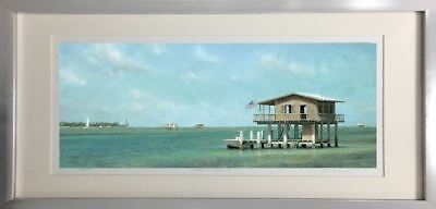 "Framed Fine Art Nautical Seascape Ocean /""Stiltsville/"" by Tripp Harrison"