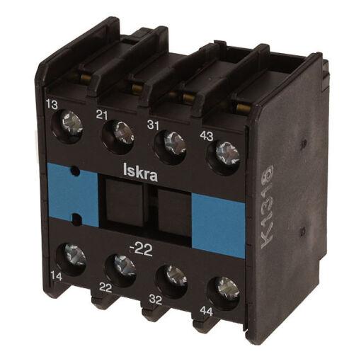Hilfsschalter NDL3-22 für Schütze ISKRA KNL22-38 Nr 4036.7926