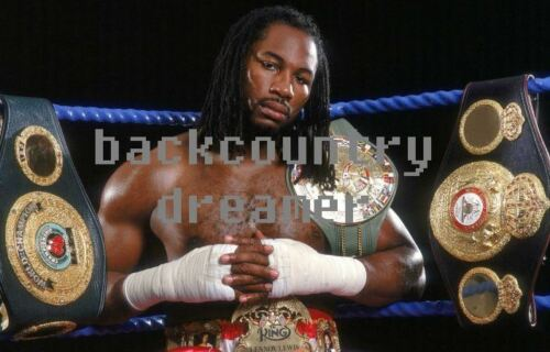 LENNOX LEWIS Poster Fight Art Print Vintage Classic Boxing Canvas Sticker A