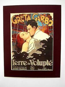Antiguo-Cine-Carrete-Impresion-Trasero-Mat-Wilde-Orquideas-1929-50x40-cm-488