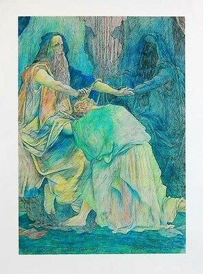 Guillaume Azoulay JACOB/'S DREAM D DORE Hand Signed Art Giclee on Canvas