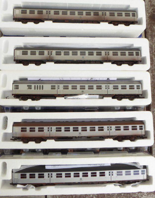Roco 2 x 45488, 45491, 64317, 45887 H0 Set 5 x silverlinge gealtert der DB Ep.4