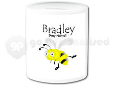 Personalised Ceramic Money Box- Insect Design- Bee