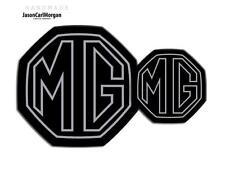 MG ZR MK2 Badge Inserts Front Rear Boot Badges 59mm/95mm Silver Stroke Black
