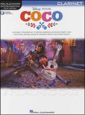Coco Instrumental Play-along Clarinet Sheet Music Book/audio Disney Pixar Wind & Woodwinds