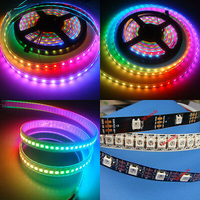 WS2812B 5050 RGB LED Strip 5M 150 300 Leds 144 60LED/M Individual Addressable 5V