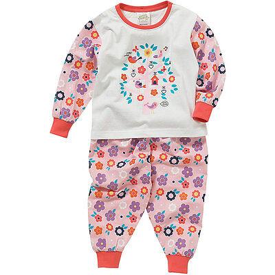 Berceuse Bébé Filles Pyjamas Très Tweet Mignon Oiseaux Floral Manches Longues 6-23 mois
