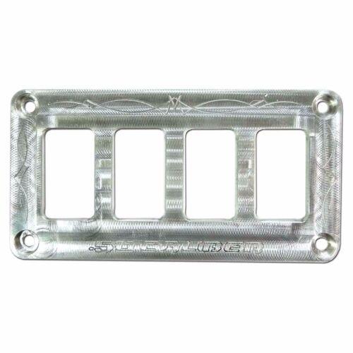 50 Caliber Racing Billet Universal Marine Rocker Switch Panel Plate Jeep UTV Raw