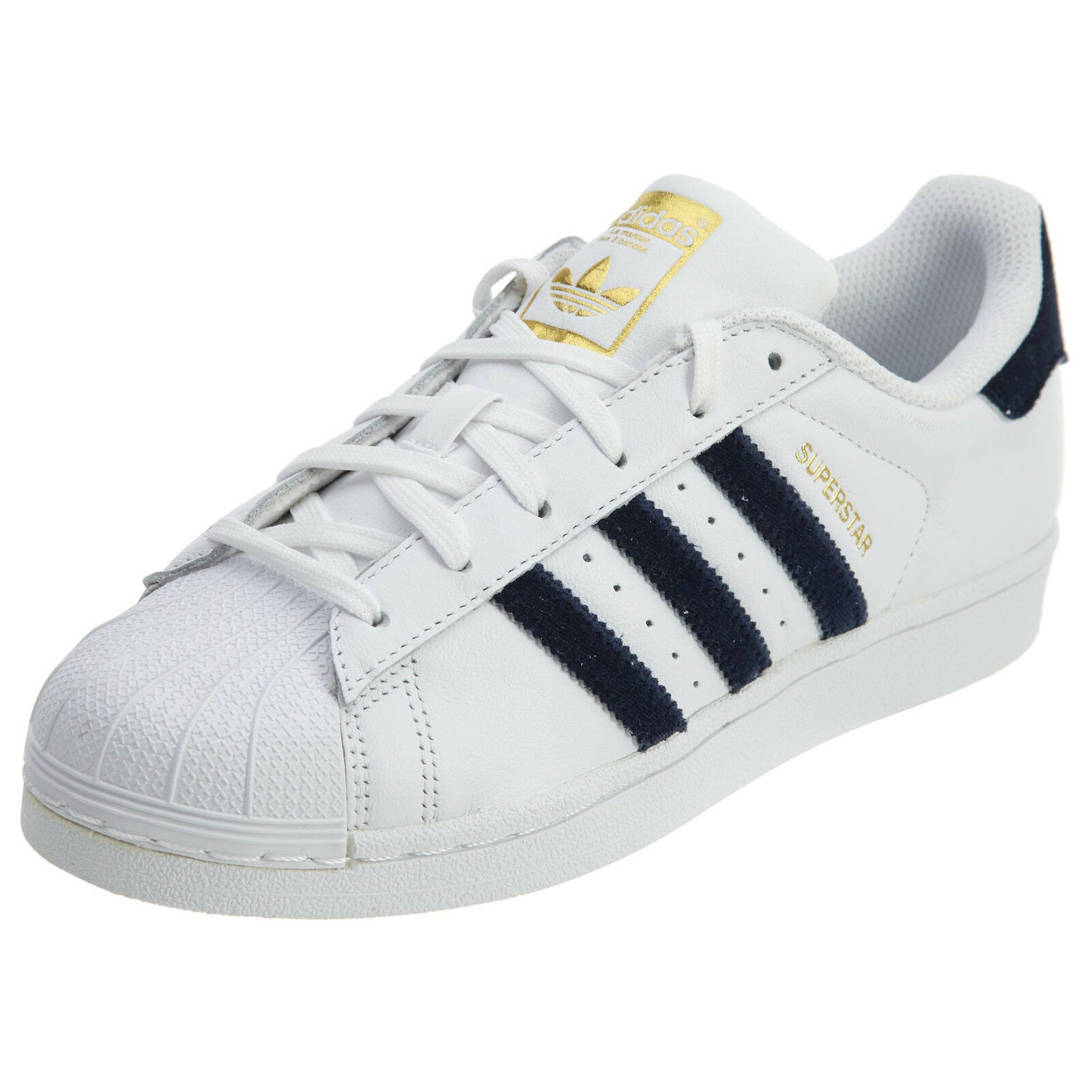 ADIDAS ORIGINAL SUPERSTAR LEATHER LOW SNEAKER WOMEN SHOES WHITE AC7163 SZ 9 NEW
