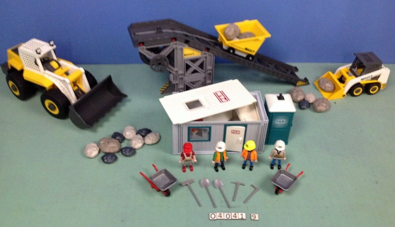 (O4041.9) playmobil convoyeur avec pelleteuse maxx7 ref 4041 + 4038  + 3260 +3275  punto vendita