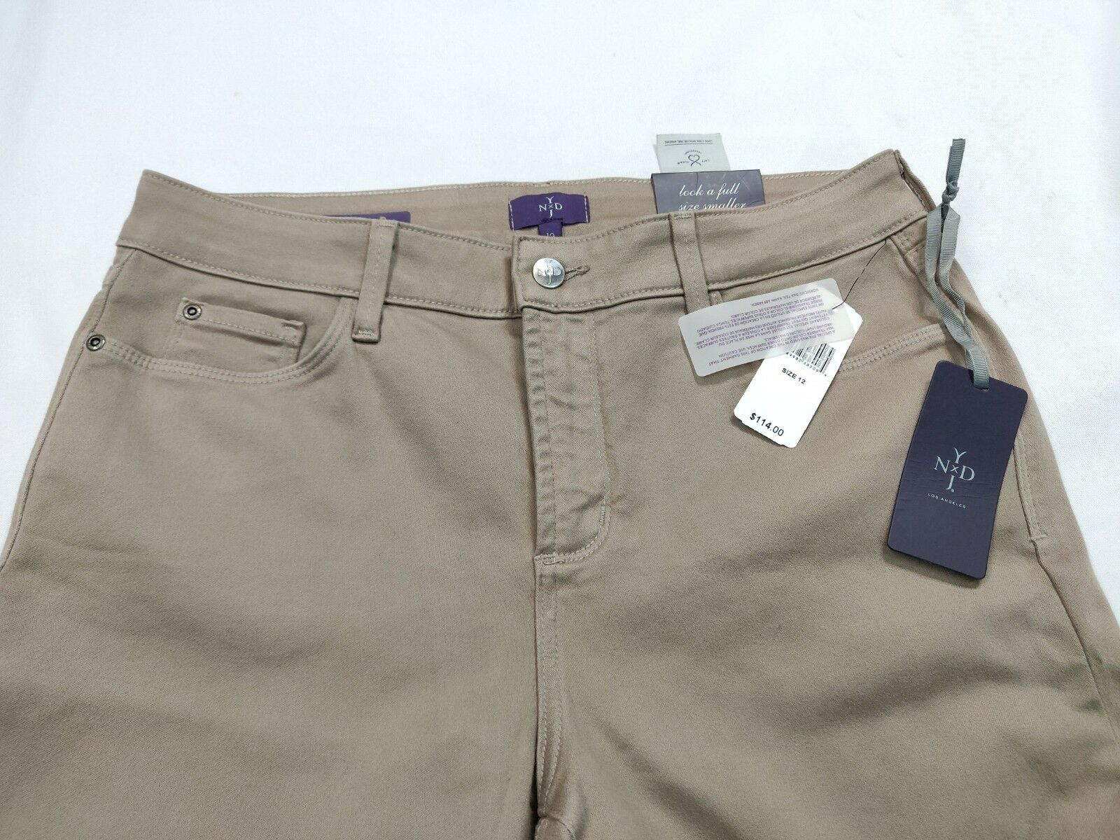 NWT NYDJ Not Your Daughters Jeans Skinny Legging Beige Women Jeans Sz 12 (32X31)
