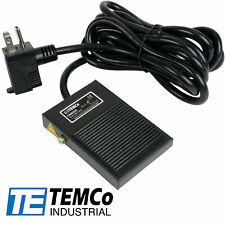TEMCo Industrial Foot Switch SPST NO Electric Power Pedal Momentary 10ft Plug