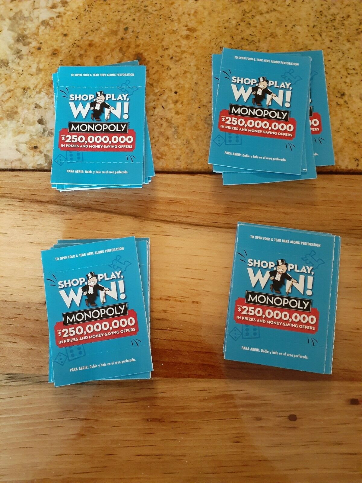 40 2020 Albertsons Safeway Vons Monopoly Tickets New Unopened 40 Pieces For Sale Online