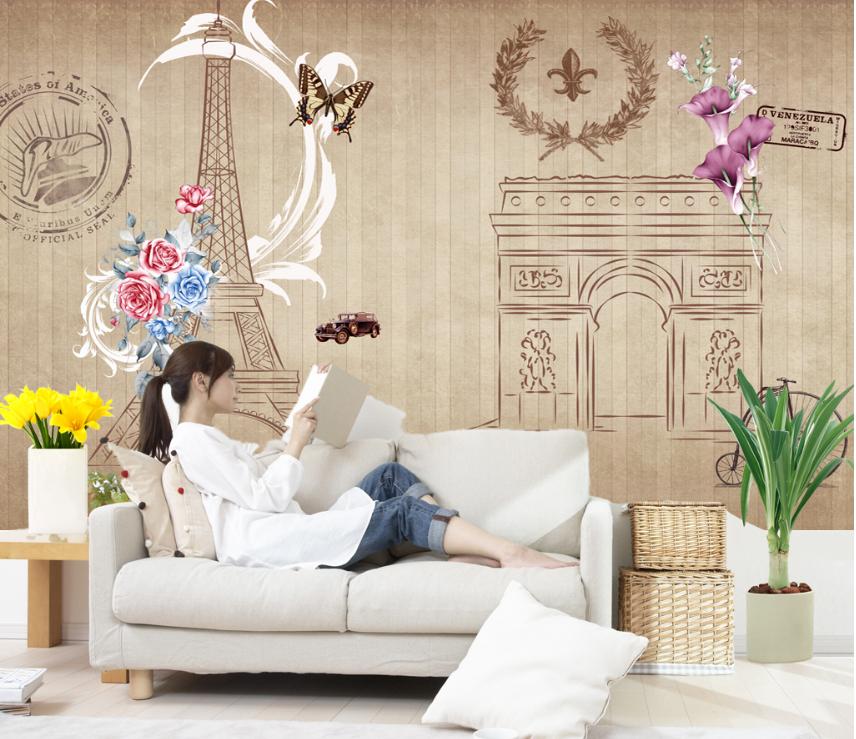 3D Berühmte Paris 86 Tapete Wandgemälde Tapete Tapeten Bild Familie DE Summer | Überlegene Qualität  | Lebhaft  | Online-verkauf
