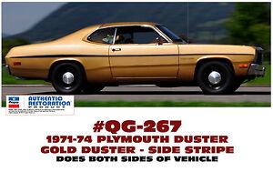 Side Stripes stripe kit for 1971-72 Plymouth Duster | eBay