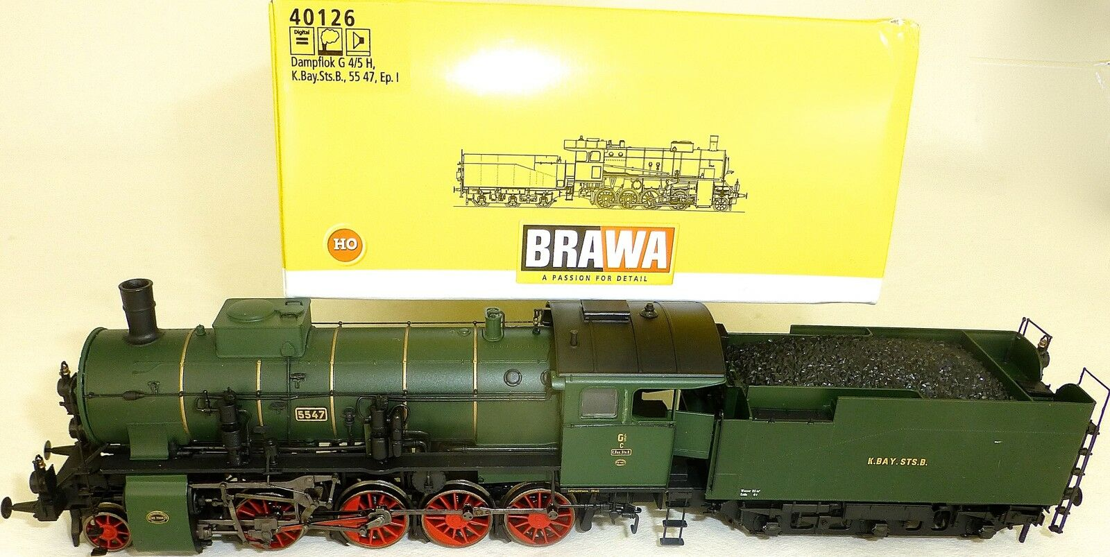 Br G 4 5 H le le Locomotive à Vapeur Son Numérique Vapeur Brawa 40126 H0